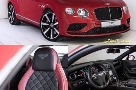 SOLD-Bentley GT V8 red